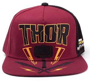 Кепка Difuzed Thor Ragnarok - Thor Hammer Snapback Красный (SB601003THR)