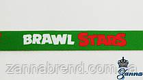 """Тканевые лампасы зеленого цвета """"Бравл старс"""" 90 см"""