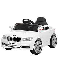 Детский электромобиль Машина BMW M 3271-1 Белый для девочки мальчика  2 3 4 5 6 лет машинка БМВ