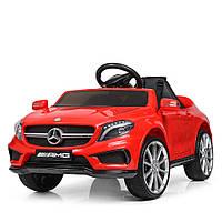 Детский электромобиль Машина Mercedes-AMG M3995-3 красный для девочки мальчика  2 3 4 5 6 лет машинка Мерседес