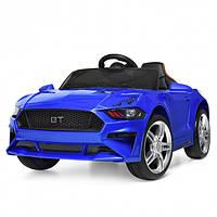 Детский электромобиль машина Ford Mustang  для  мальчика 2 3 4 5 6  лет Ford Mustang синий  Форд Мустанг