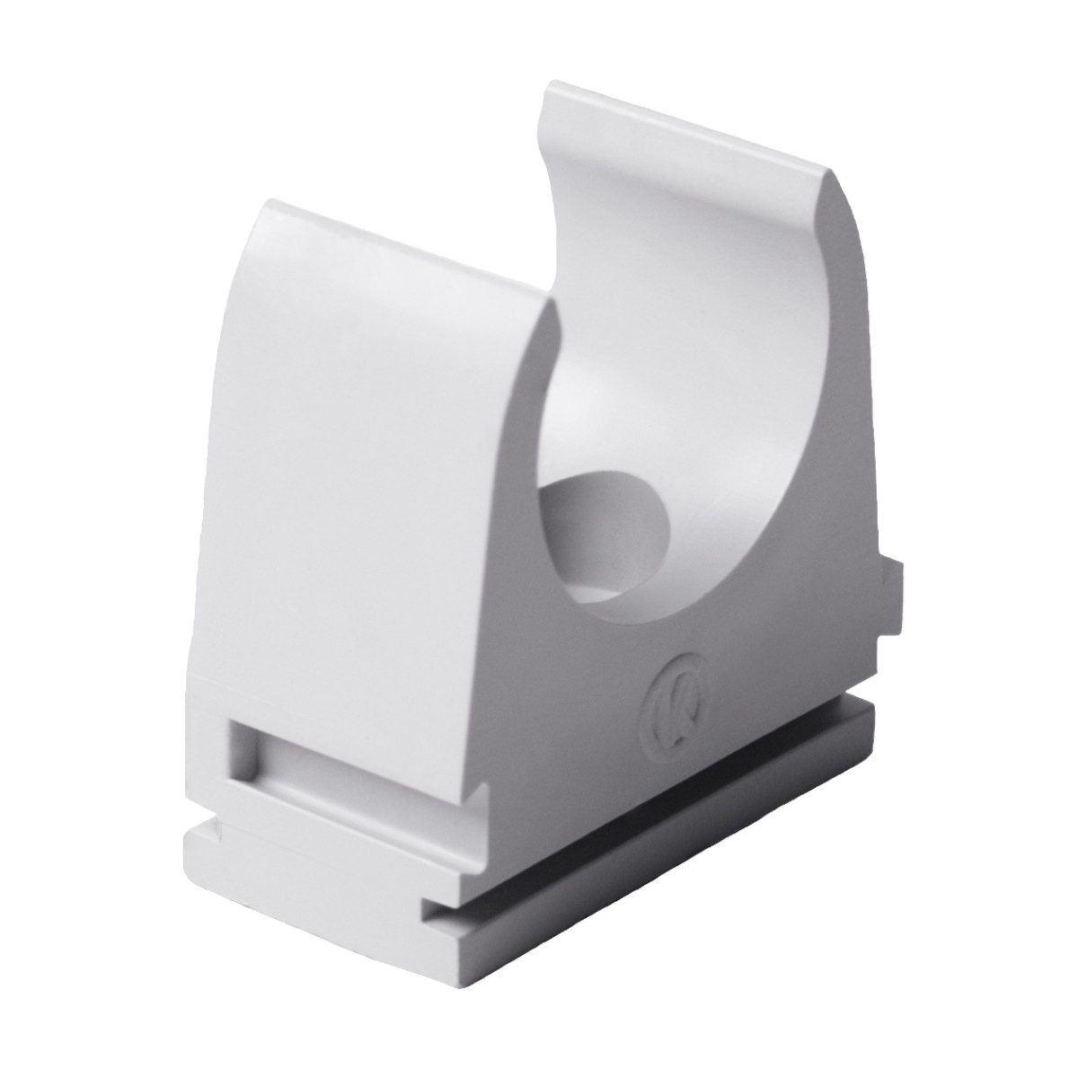 Кріплення труби 25 мм ; Ø25мм; полікарбонат; безгалогенна; t застосування -45-90 °с; світло-сіра; Упаковка 10 шт