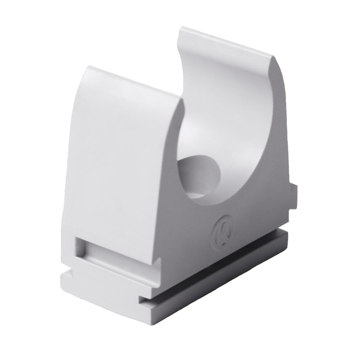 Кріплення труби 32 мм ; Ø32мм; полікарбонат; безгалогенна; t застосування -45-90 °с; світло-сіра; Упаковка 10 шт