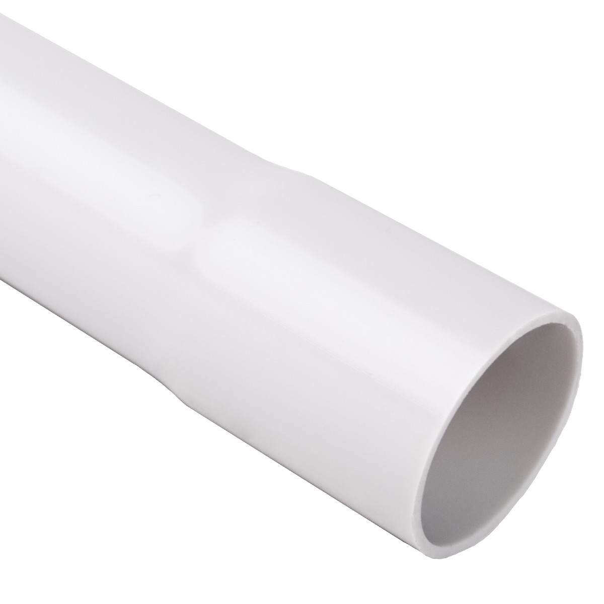Труба жорстка 320 N/5см з раструбом для з'єднання; Ø20мм; полікарбонат; безгалогенна; t застосування -45-90 °с; світло-сіра; Упаковка 30 шт