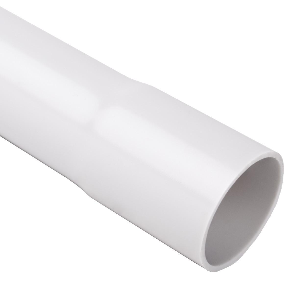 Труба жорстка 320 N/5см з раструбом для з'єднання; Ø40мм; полікарбонат; безгалогенна; t застосування -45-90 °с; світло-сіра; Упаковка 30 шт