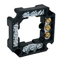 Клемна колодка чотирьохстороння 12х4 ; напруга до 500 V; січення кабелю до 4мм