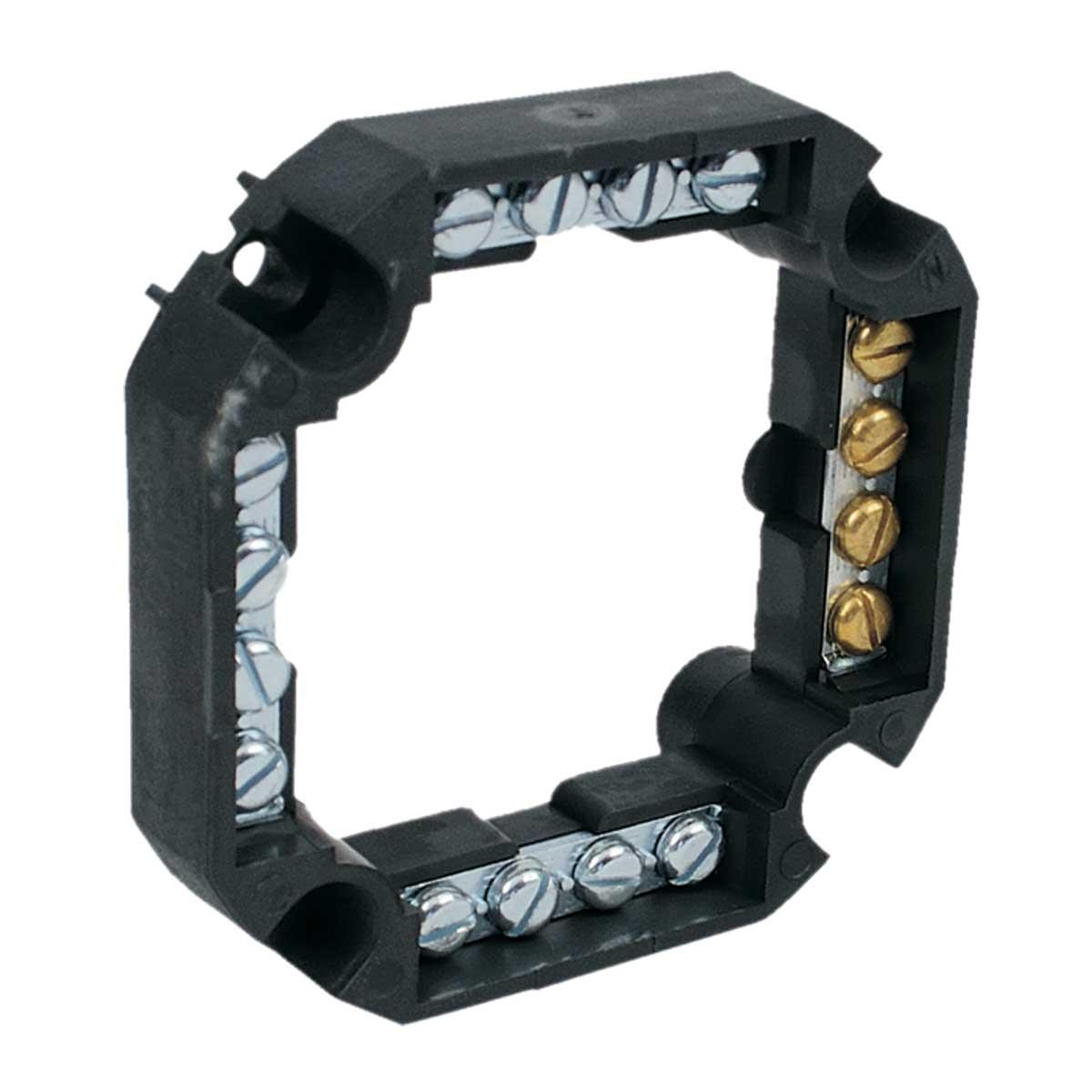 Клемна колодка чотирьохстороння 16х4 ; напруга до 500 V; січення кабелю до 4мм