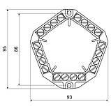 Клемна колодка  п'ятистороння 20х4  ; напруга до 500 V; січення кабелю до 4мм , фото 2