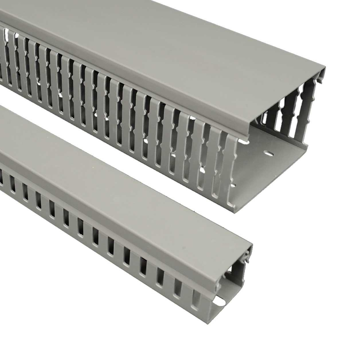 Кабельний канал перфорований DIN  50х75мм; довжина 2м.ш.ребра-7,5мм;між ребрами- 5мм;  ПВХ; сірий