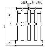 Кабельний канал перфорований 60х60мм; довжина 2м.ш.ребра-5,5мм;між ребрами- 4,5мм;  ПВХ; сірий, фото 2