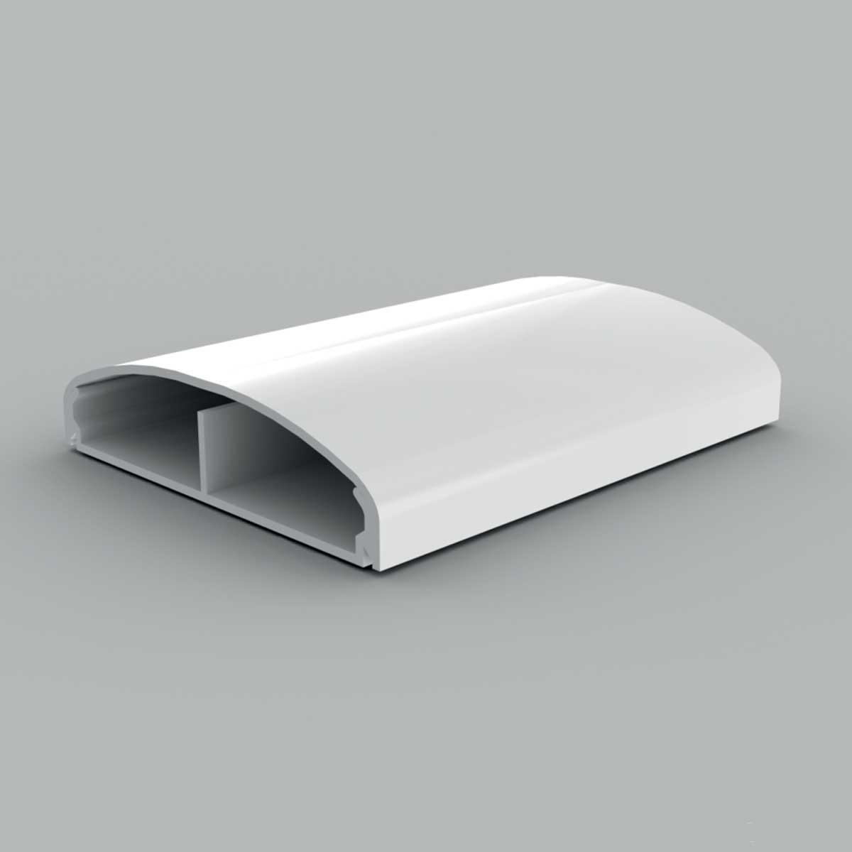 Кабельний канал з ПВХ білого кольору 20х80мм; Серія LЕ Елегант; ПВХ