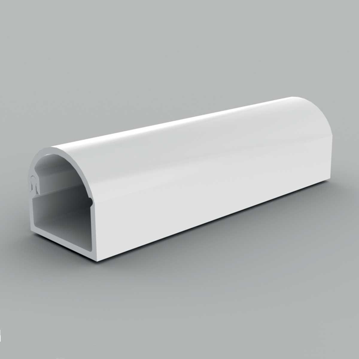 Кабельний канал з ПВХ білого кольору 15х12мм; закруглена кришка; Серія LZ; ПВХ