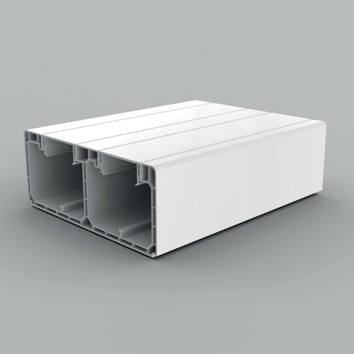 Кабельний канал парапетний білого кольору  160х65мм; Серія PK; ПВХ