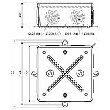 Коробка, IP 54 для зовнішнього монтажу; розміри 110х110х52мм, фото 2