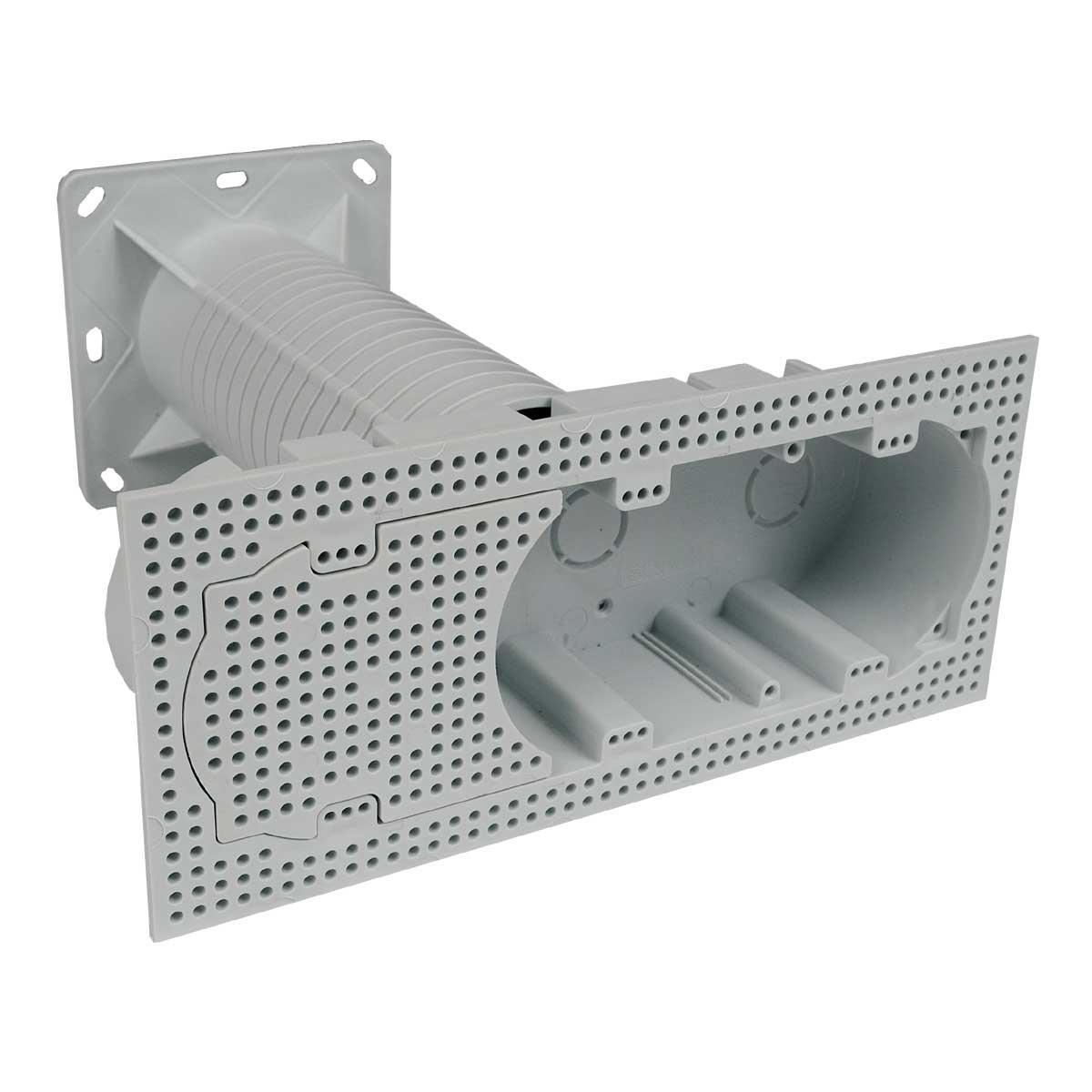 Коробка подовжена приладова (використовується при термоізоляції будівель) матеріал -ПП; розміри 100х230х250мм