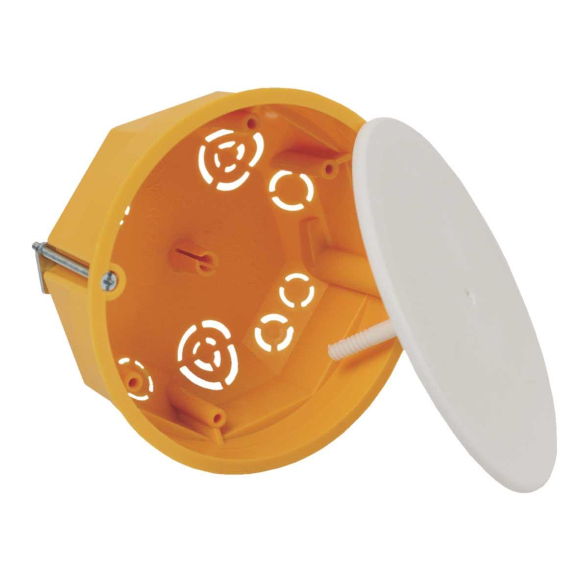 Коробка розподільча з кришкою ПВХ; сіра; Ø105х50мм