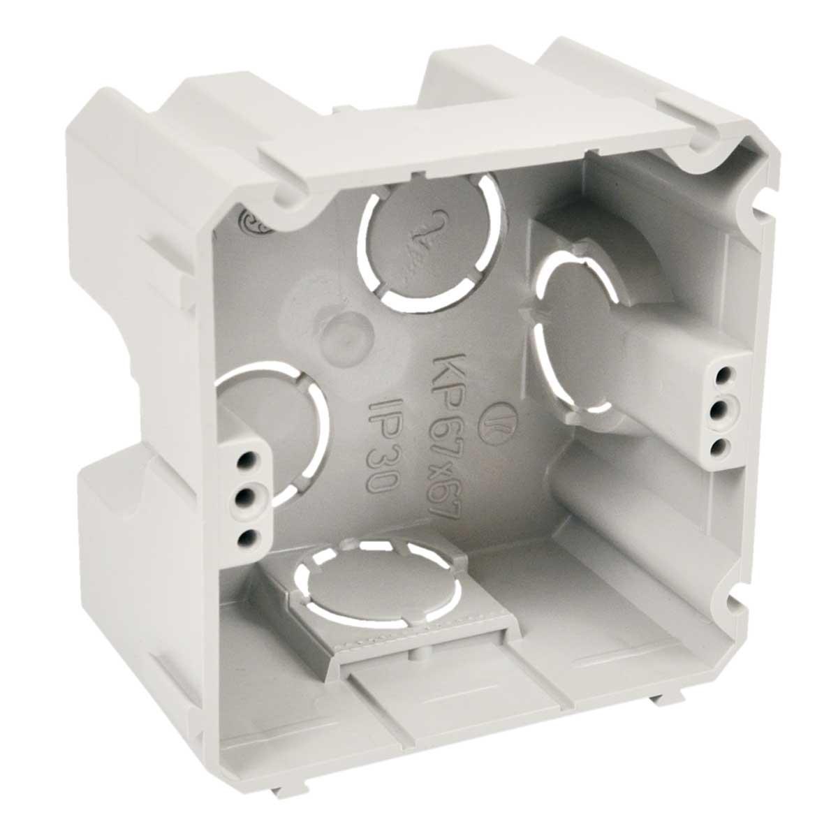 Коробка приладова,  з'єднуються між собою; ПВХ; сіра; 71х71х42мм