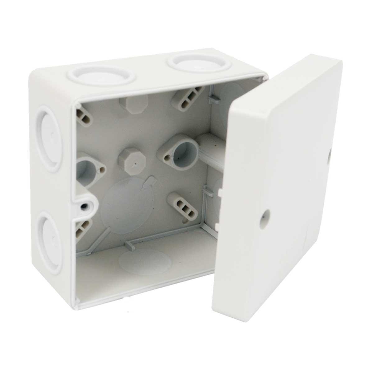Коробка, IP 66, антивандальна кришка, мембранні входи для зовнішнього монтажу; розміри 81х81х35мм