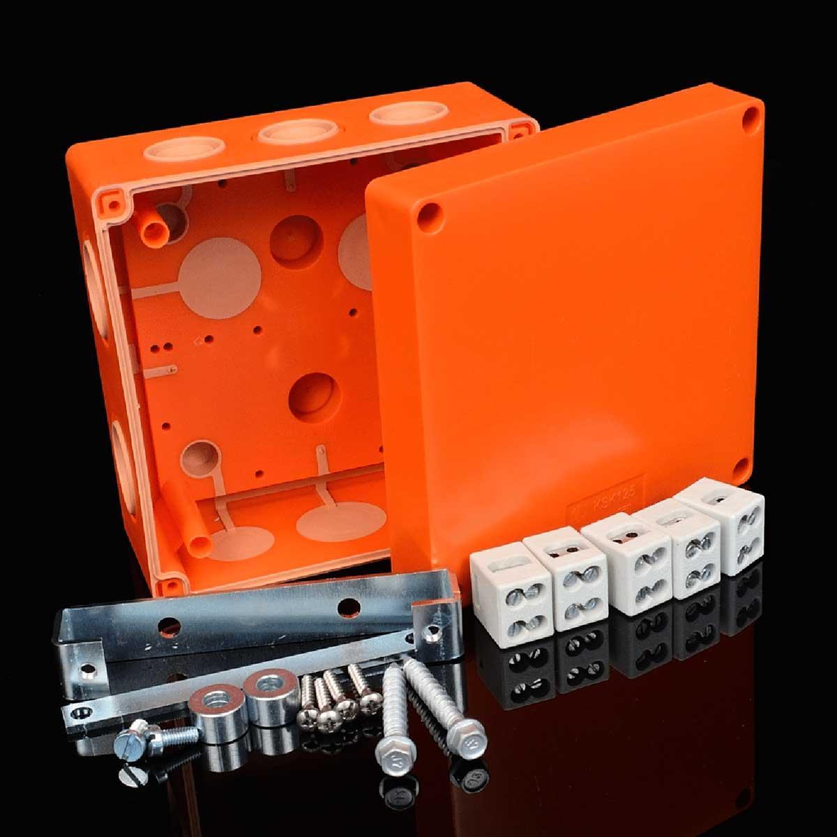 Коробка вогнестійка IP 66,   керамічна клема 5x6мм; клас Е90; розміри 126х126х74мм