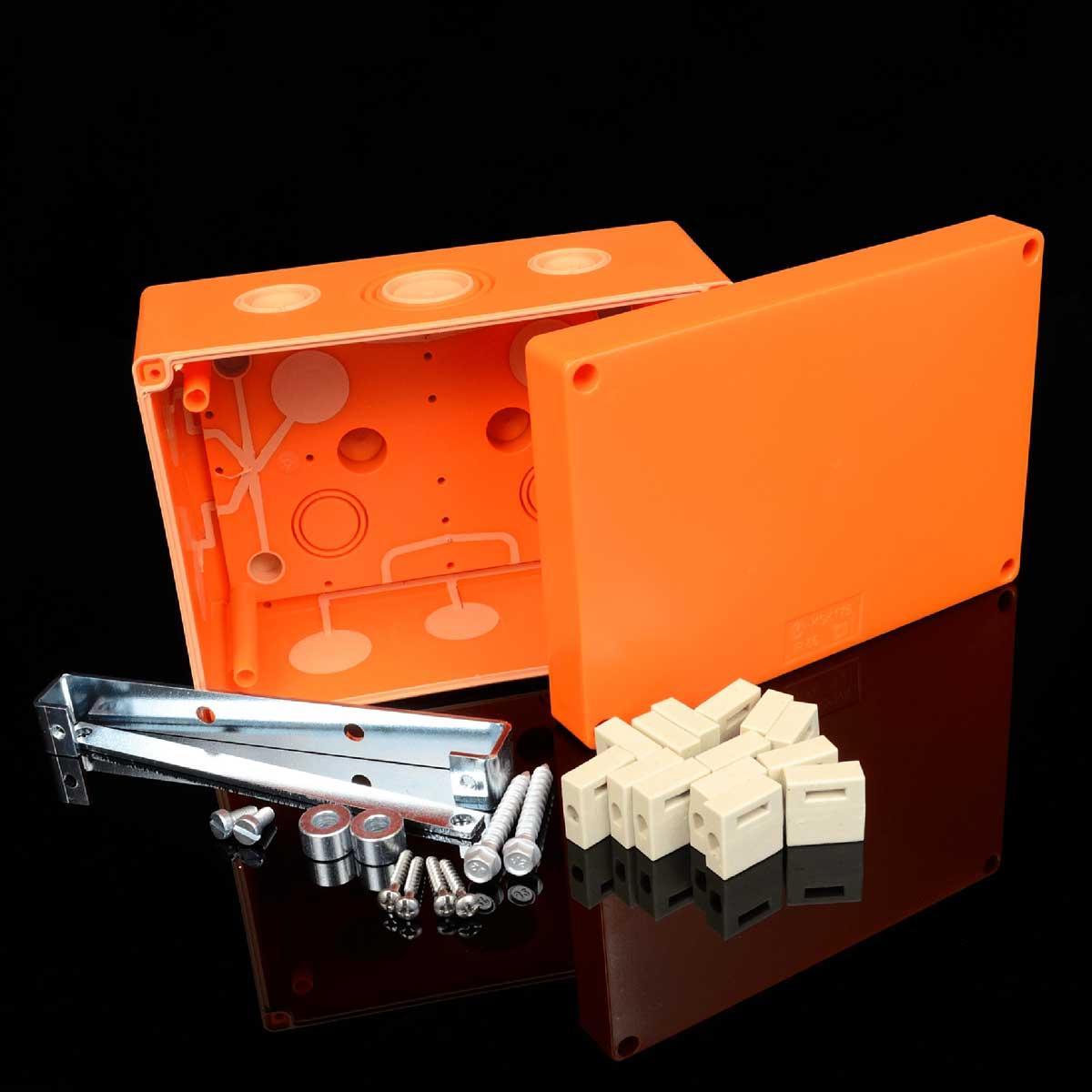Коробка вогнестійка IP 66,   керамічна клема 4х8мм; клас Е90; розміри 176х126х87мм