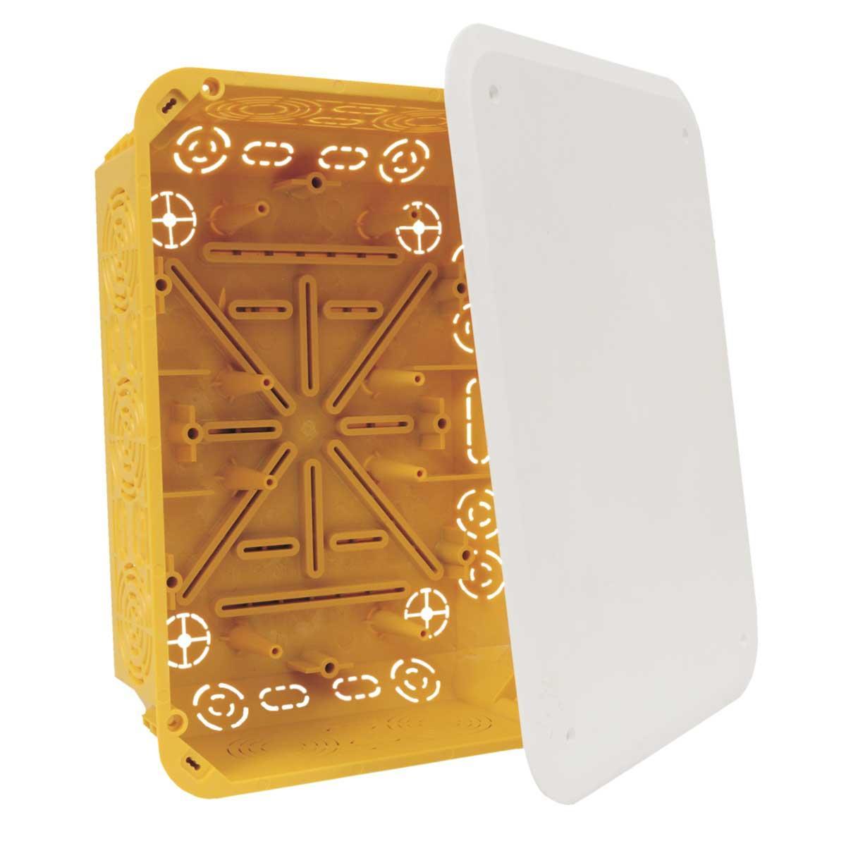 Коробка з кришкою ПВХ; сіра; 233х175х78мм