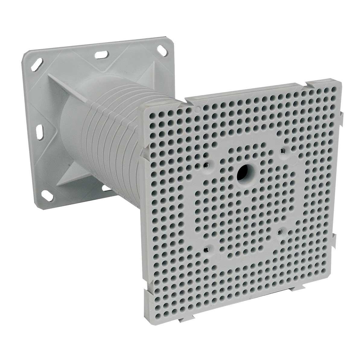 Монтажна панель для установки зовнішнього електрообладнання (використовується при термоізоляції будівель) матеріал -ПП; розміри 120х120х200мм