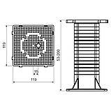 Монтажна панель для установки зовнішнього електрообладнання (використовується при термоізоляції будівель) матеріал -ПП; розміри 120х120х200мм, фото 2
