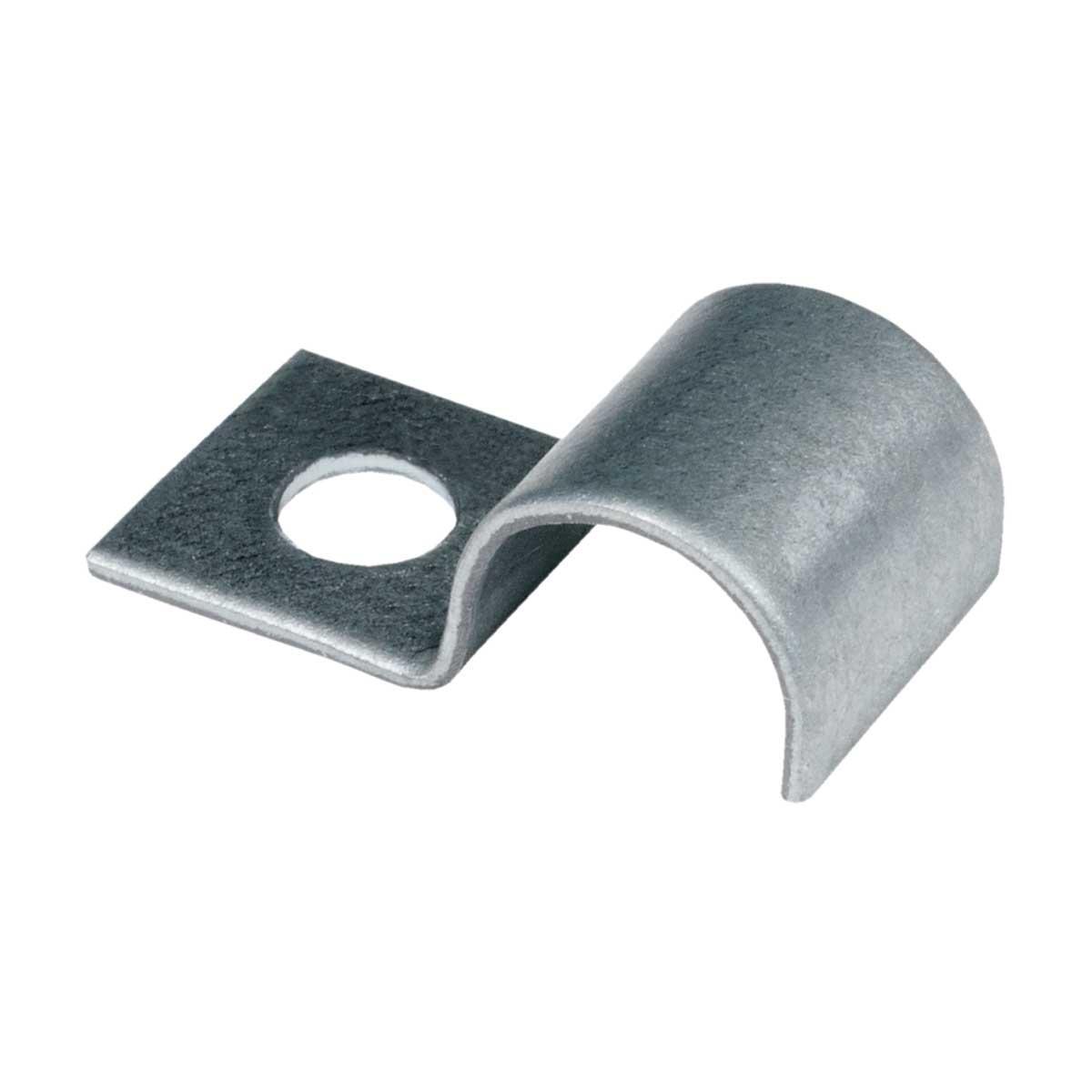 Хомут односторонній металевий для кабелю діаметром-4мм; Оцинковка Сендзимир