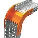 Поворот вертикальний зовнішній 90 для лотка JUPITER; розміри-85x600x270mm Товщ. метал-1,2 Вага-2,33кг/м, фото 2