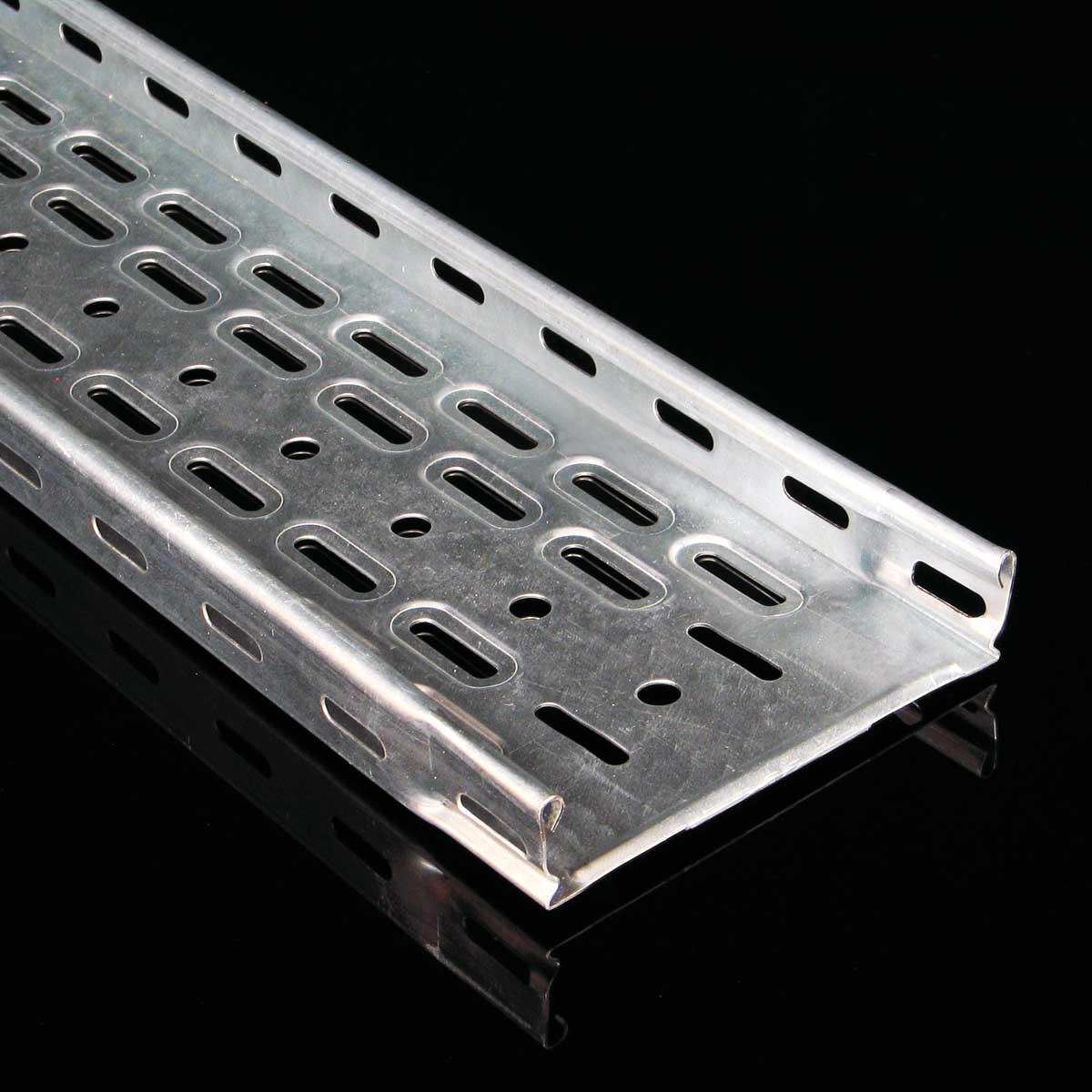 Лоток кабельний Jupiter перфорований з інтегрованим з'єднанням; розміри-35x400x3000mm Товщ. метал-1 Вага-3,24кг/м