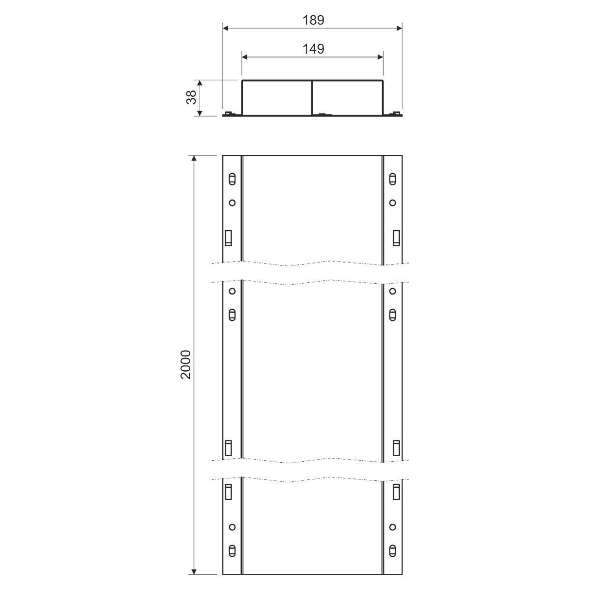 PUK 38х150 S1 Лоток для підлоги