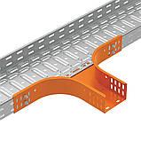 Відгалуження горизонтальне для лотка JUPITER; розміри-35x75x475mm Товщ. метал-0,8 Вага-0,6кг/м, фото 3