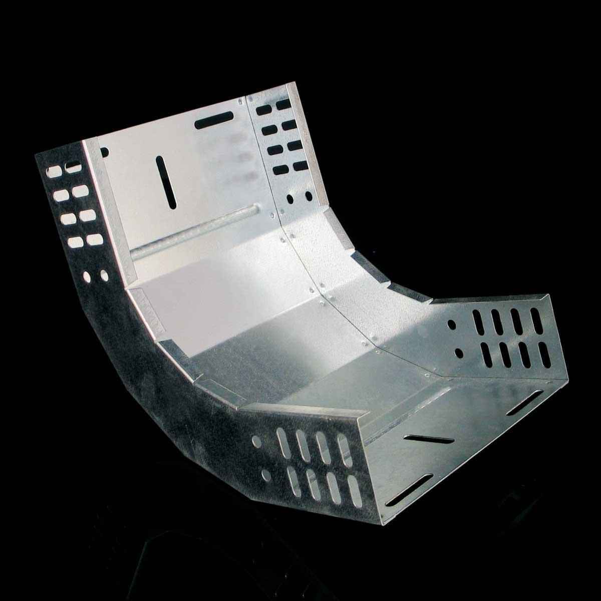 Поворот вертикальний внутрішній 90° JUPITER; розміри-35x400x220mm Товщ. метал-1 Вага-1,39кг/м