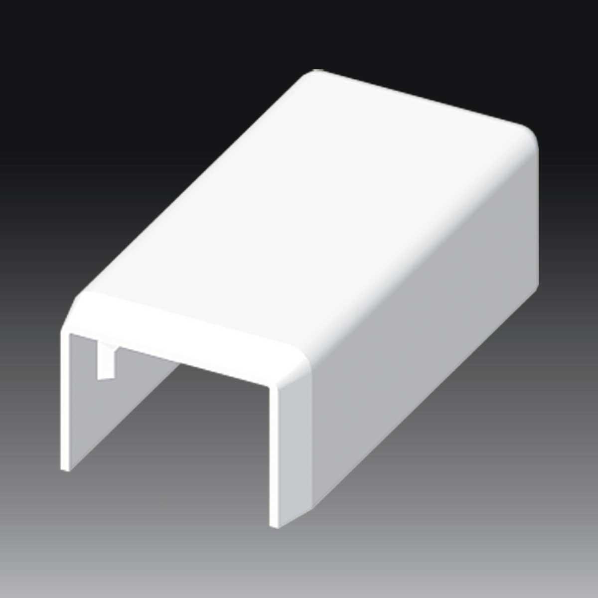 Заглушка до LV 18х13 білого кольору; Серія LV; ПВХ
