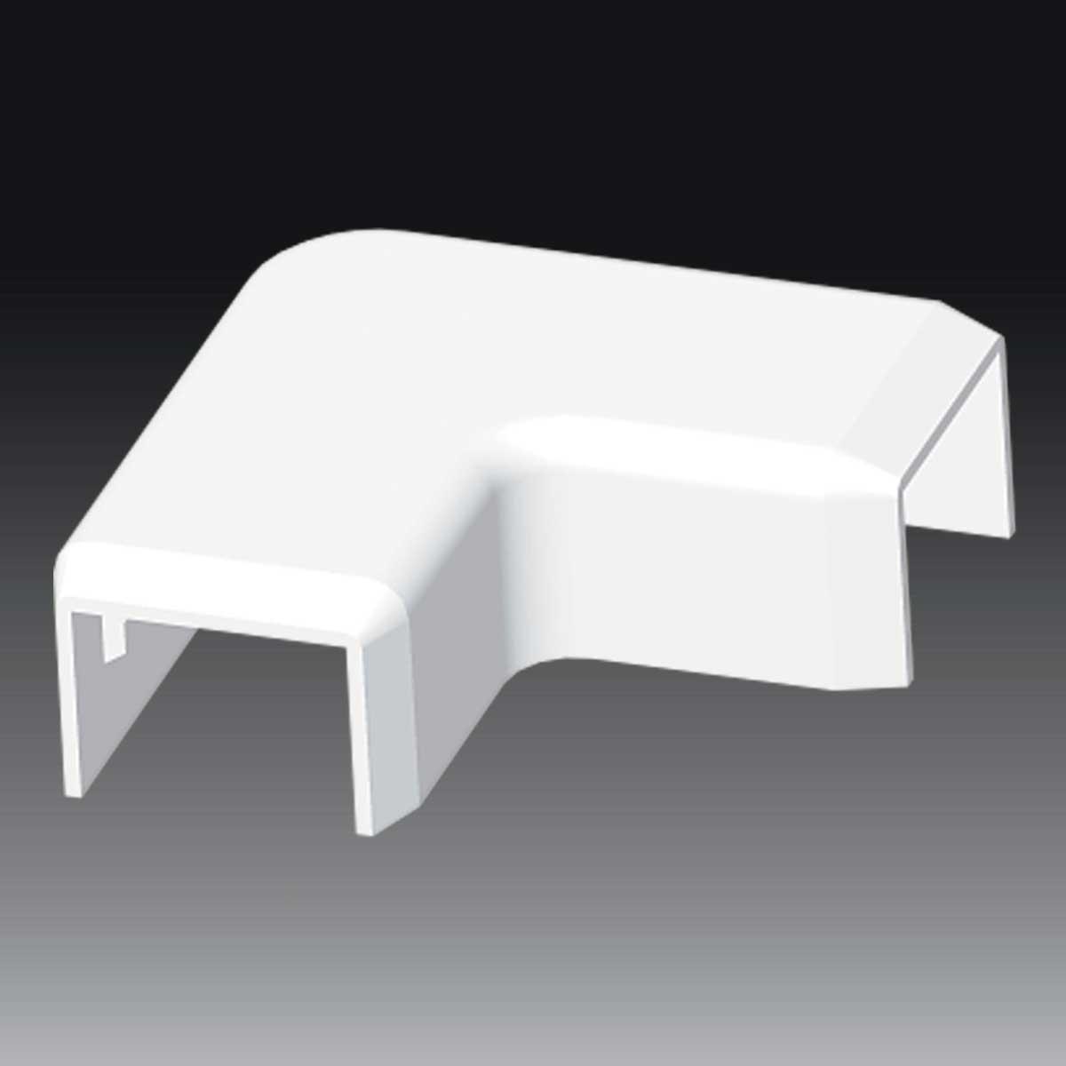 Кут прямий  до LV 18х13 білого кольору; Серія LV; ПВХ