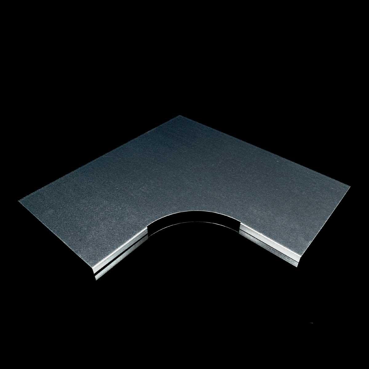 Кришка горизонтального повороту 90° для лотка JUPITER; розміри-12x150x354mm Товщ. метал-0,6 Вага-0,43кг/м