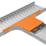 Кришка горизонтального відгалуження для лотка JUPITER; розміри-15x600x1003mm Товщ. метал-1 Вага-1,23кг/м, фото 3