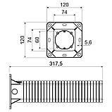 Коробка приладова подовжена (використовується при термоізоляції будівель) матеріал -ПП; розміри 120х120х300мм, фото 2