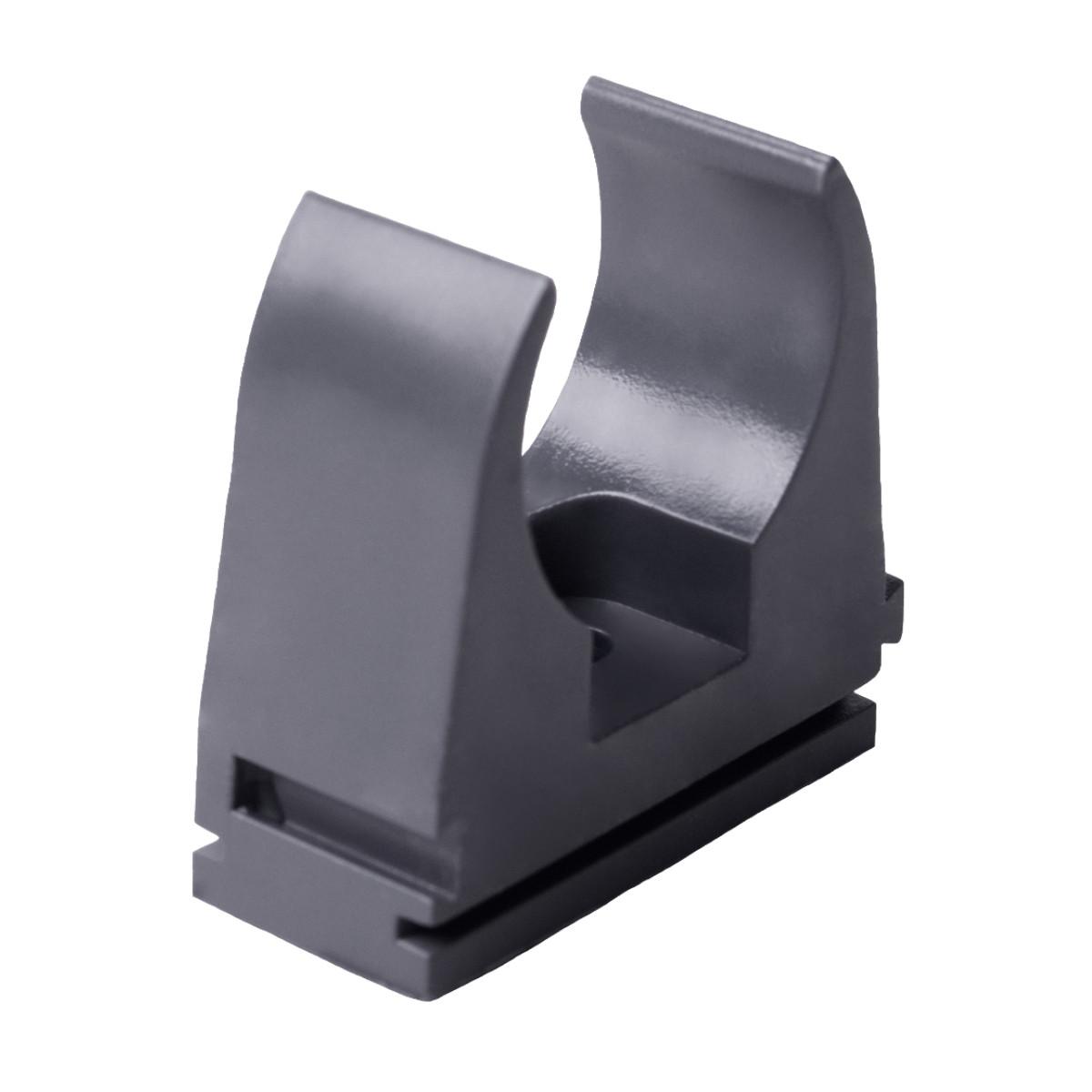 Кріплення труби 16 мм ; Ø16мм; ПВХ;; t застосування -25+60 °с; темно-сіра; Упаковка 10 шт