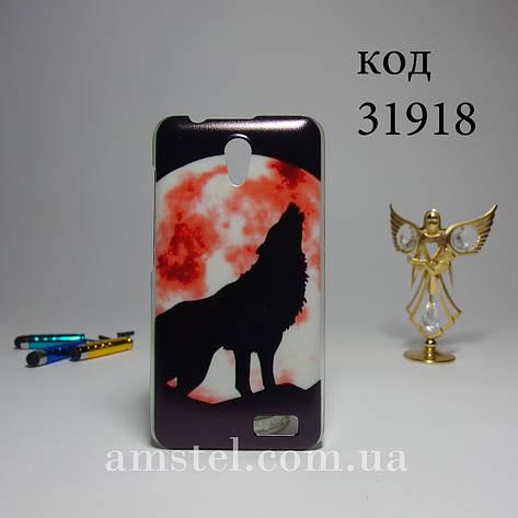 Чохол для lenovo a319 панель накладка з малюнком дикий вовк, фото 2