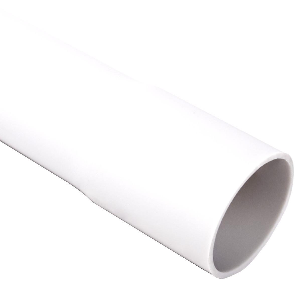 Труба жорстка 320 N/5см з раструбом для з'єднання; Ø50мм; ПВХ;; довжина 3м; t застосування -25+60 °с; біла; Упаковка 30 шт