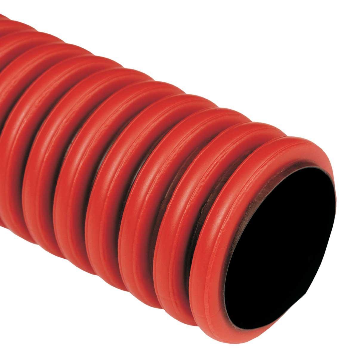 Труба гофрована гнучка двошарова Копофлекс, червона, протяжка, ; Ø63мм; поліетилен HDPE; Бухта 50 м
