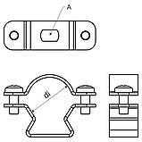 """Хомут """"Омега"""" ; сталь оцинкована шар цинку 17-19мкм стійкість корозії- 2 кат.; упаковка 50 шт, фото 2"""