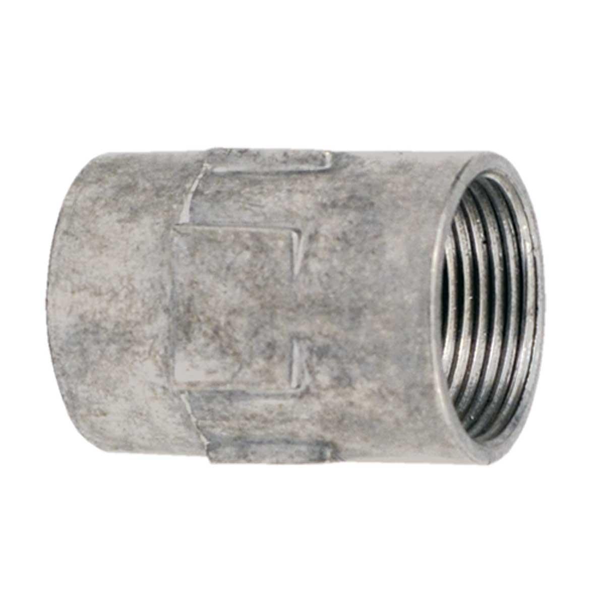 Муфта різьбова для труби  ZNМ; сталь оцинкована шар цинку 17-19мкм стійкість корозії- 2 кат.; упаковка 10 шт