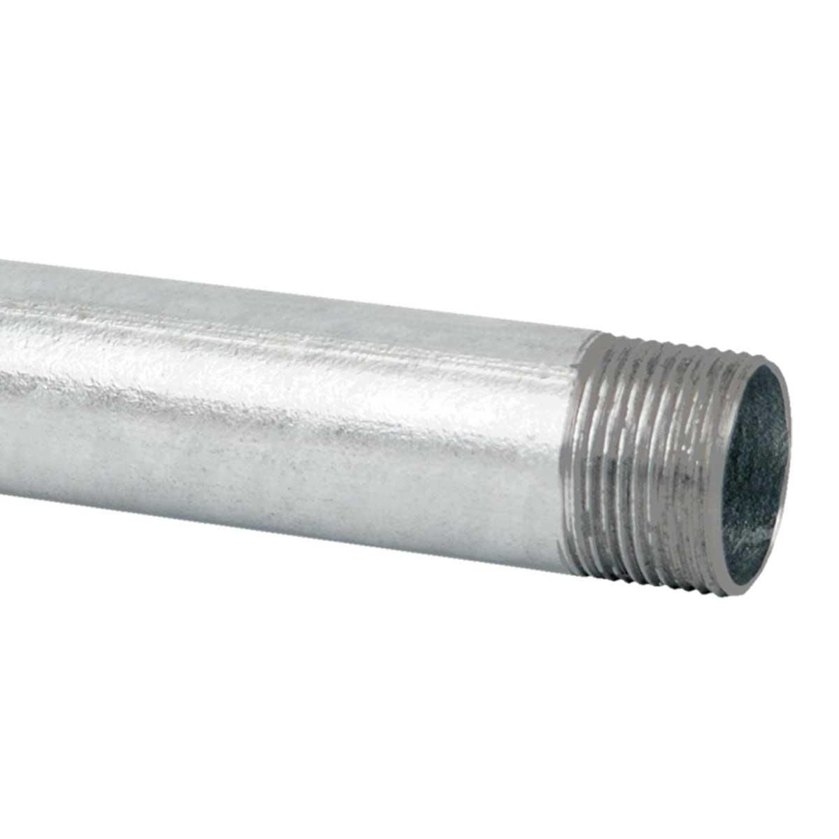 Труба металева (внутрішній d- 12,6 мм.) ; з різьбовою муфтою;; сталь оцинкована шар цинку 60-100мкм стійкість корозії- 4 кат.; упаковка 30 шт