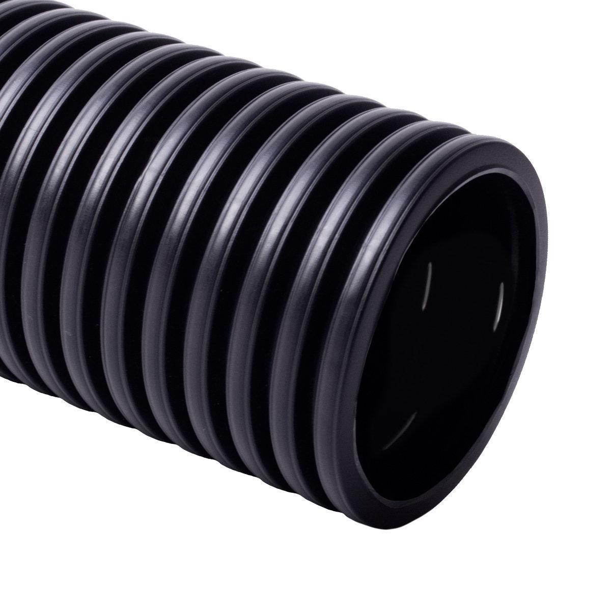 Труба дренажна 80 мм, чорна; одношарова; поліетилен; бухта  50 м