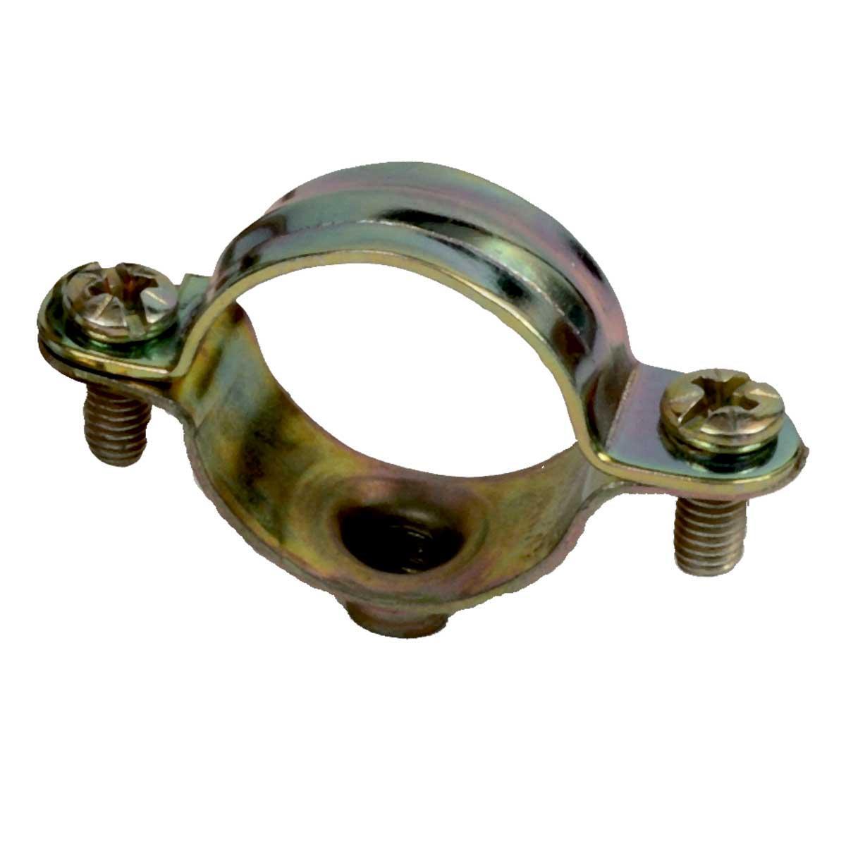 """Хомут """"Dobrman"""" для кабелю діаметром-20мм; сталь оцинкована шар цинку 17-19мкм стійкість корозії- 2 кат.; упаковка 50 шт"""