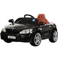 Детский электромобиль Машина BMW M 2773 EBLR-2 черный  для девочки и мальчика 2 3 4 5 6 лет черный бумер БМВ