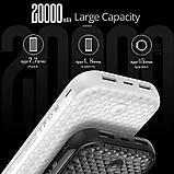 Power Bank, внешний аккумулятор Rock 20000mAh P58 с 2 USB. Павербанк, повербанк, зарядка, фото 3