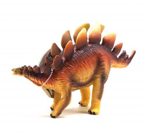 """Динозавр резиновый """"Стегозавр"""" оранжевый  sco"""
